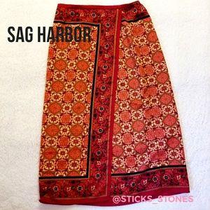 Sag Harbor Mock Wraparound Skirt